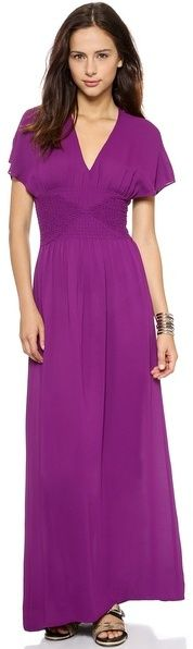 Twelfth St. by Cynthia Vincent Smocked Maxi Dress
