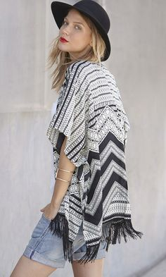Rock Out Spring 2015 Trends | Lightweight Poncho with Aztec Print