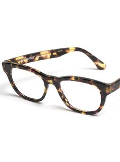 Large Square Frame in Tortoise with hints of Purple