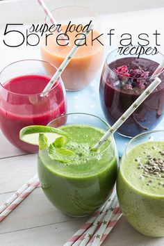 Delicious breakfast smoothies that are super healthy and look amazing!