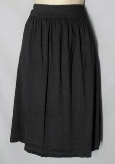 Eileen Fisher size L Large Linen Blend Skirt Dark Gray-Light Black A-Line NEW #EileenFisher #ALine