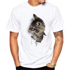 3D Cute Cat T-shirts Women Summer Tops Tees Print Animal T shirt Men o 830fd1bf6fea