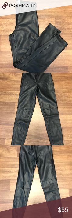 Free People Leather Pants Size 0. Legging/Pant Thicker material, lined on the inside.  Zippers at ankles.  No damages except pilling at waistband shown in picture. Motivated to sell, open to offers. Free People Pants Skinny