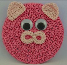 FREE PATTERN ~ Critter Pig Coaster