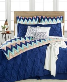 Aztec Stripe 10-Pc. Queen Comforter Set | macys.com