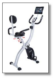 The Innova Fitness XBR450 is a dual function folding upright / recumbent exercise bike