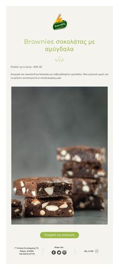 Brownies σοκολάτας με αμύγδαλα! Brownies, Biscuits, Desserts, Food, Cake Brownies, Crack Crackers, Tailgate Desserts, Cookies, Deserts