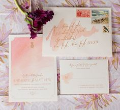 Hawaiian Watercolor Wedding Inspiration