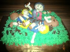#rugby #cake #grass #girls #winner #ball cake for my friend Coco