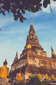 {<3} Wat Yai Chaimongkol - Ayutthaya Ancient Architecture, Architecture Art, Temples, Ayutthaya Thailand, Buddha Temple, Ko Samui, Thailand Travel Tips, Thai Art, Pattaya