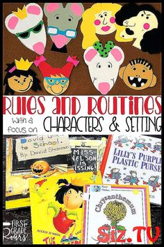 The First Week of School with Rules and Routines is the perfect unit to start th… Character And Setting, Kindergarten Lesson Plans, Classroom Behavior, Classroom Community, One Week, Elementary Education, Reading Comprehension, On Set, The One