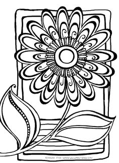 This is my signature Zenspirations flower... and it is included in the new series of 'Create, Color, Pattern, Play' books that I just finished. This design is from the Zenspirations Flowers book. The idea is to add your own patterns, and then color the design.