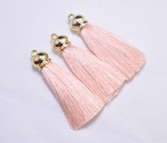 Suede Tassel Charms with Gold Cap For Jewellery Making Black 36 mm h14//3