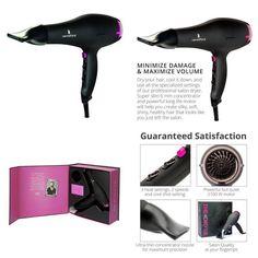 Professional Style Hair Dryer 2100W Pro Speed Lightweight Hairdryer Quiet Drying