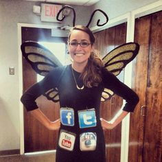 Social Butterfly Halloween Costume.