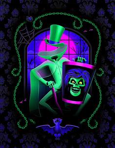 The hatbox ghost has materialized at WonderGround Gallery in Downtown Disney thanks to artist Jeff Granito! Stop by this weekend from 3-5p.m. for a spook around!