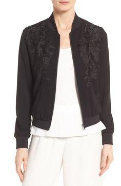 KOBI HALPERIN Karine Bomber Jacket. #kobihalperin #cloth #