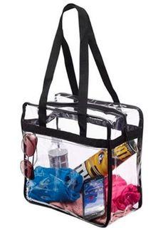 Women Fashion Crystal PVC Tote Bag Handbag Transparent Beach Bag c195643bf46be