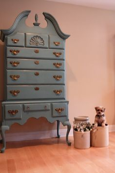 Modernized this beautiful Queen Anne Highboy Dresser White and