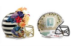 Frou frou Football Helmets for a cause http://media.bloomingdales.com/fashion-touchdown/?fromvanity=/superbowlhelmets