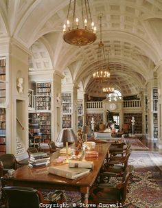 Reading room of the Boston Atheneum, Boston, MA