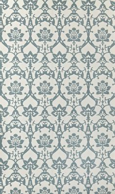 Brocade  - Farrow & Ball Wallpapers - An elegant design with gothic influences and elaborate floral, thistle and leaf motifs.