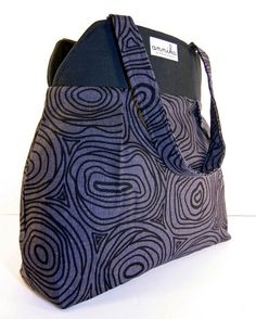 Large Nanette Tote in Charcoal Gray and by AnnikainChautauqua, $59.99, $59.99