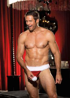 Still debating what to wear to the family Christmas party? May we suggest this delightful Peekaboo Santa Thong?