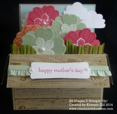 Flower Box Card. Click on link for tutorial. http://www.creatinwithkirsteen.com/index.php/other-stuff/1246-flower-box-card