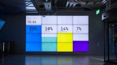 Klarna Data Wall - real-time data visualization by Onformative / 2014 Digital Signage, Digital Wall, Property Branding, Data Dashboard, Exhibition Booth Design, Exhibition Stands, Exhibit Design, Timeline Design, Web Banner Design