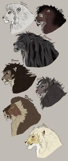 The gentlemen of the Achidar pride. by NadiavanderDonk.deviantart.com on @deviantART