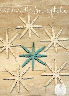Snowflakes & thoughts on broken things Clothespin Snowflakes & thoughts on broken things. - All Things Heart and HomeClothespin Snowflakes & thoughts on broken things. - All Things Heart and Home Christmas Crafts For Kids, Homemade Christmas, Christmas Projects, Winter Christmas, Holiday Crafts, Christmas Holidays, Fun Crafts, Christmas Ideas, Clothes Pin Ornaments