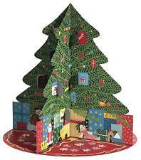 Entertaining with Caspari 3D Pop-Up Advent Calendar, Christmas Tree Carousel,