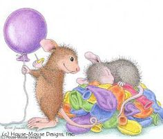 """Maxwell and Muzzy from House-Mouse Designs® featured on the The Daily Squeek® for November 26th,2013. Click on the image to see it on a bunch of really """"Mice"""" products."""