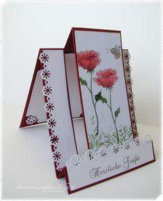AnnasArt: Fun Fold Card mit Mohnblüten