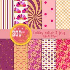 Peanut butter and jelly digital paper. by GemmedSnail, $4.00 #pbj