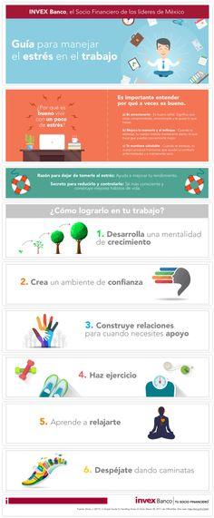 Guía para manejar el estrés en el trabajo #infografia Entrepreneur, Marketing, Infographics, Health, Tips, Industrial, Fields, Stress At Work, Family First