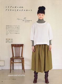 NATURAL CLOTHES OF LINEN, COTTON, WOOL JAPANESE SEWING PATTERN BOOK FOR WOMEN LADY