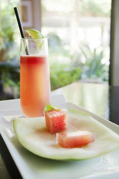 refreshing watermelon cocktail