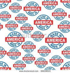 Made in America seamless pattern background icon. Flat vector illustration. America sign symbol pattern.