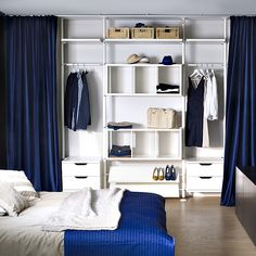 Ikea wardrobe: cabinets, furniture and tips for organizing your storage - Armo . - Ikea DIY - The best IKEA hacks all in one place Closet Curtains, Diy Curtains, Closet Bedroom, Bedroom Curtains, Ikea Dressing Room, Dressing Room Design, Ikea Bedroom, Home Decor Bedroom, Bedroom Shelves