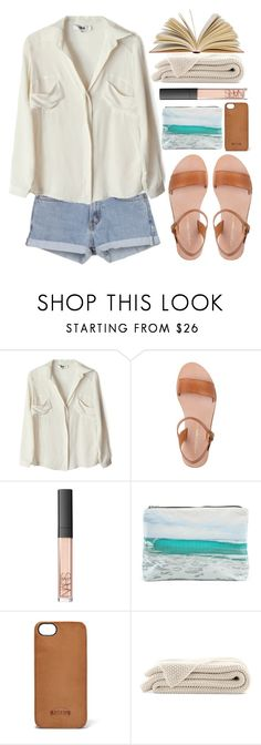 """""""Reading by the seaside"""" by evangeline-lily ❤ liked on Polyvore featuring To Be Adored, NARS Cosmetics, Samudra and FOSSIL"""