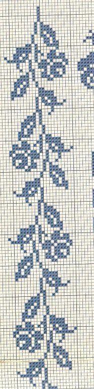 rose Cross stitch border: