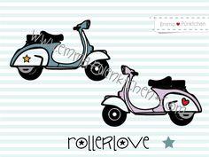 """∙ • Plotterdatei """"RollerLove"""" • ∙ von Emma & Pünktchen DIY auf DaWanda.com"""