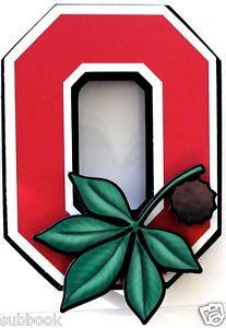 Ohio State Buckeyes 3-D Sign Ohio State Block O Wall Art