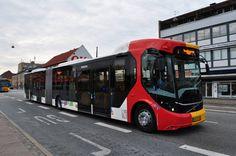Volvo articulated bus in Copenhagen
