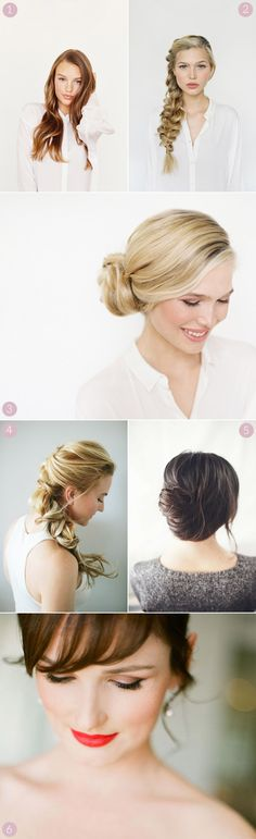 Six Pretty Wedding Hair and Makeup Looks - The Sweetest Occasion — The Sweetest Occasion