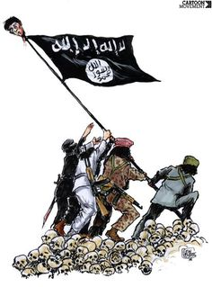 Is raising the IS flag...