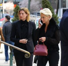 Arrival: Real Housewives of New York star Dorinda Medley was among those mourning