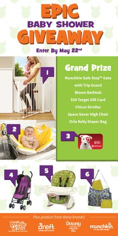 New moms and moms-to-be - enter now to win over $300 in prizes that all new moms want and need! #EpicBabyShower giveaway!